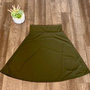 Lularoe Azure A line skirt in olive green size XL